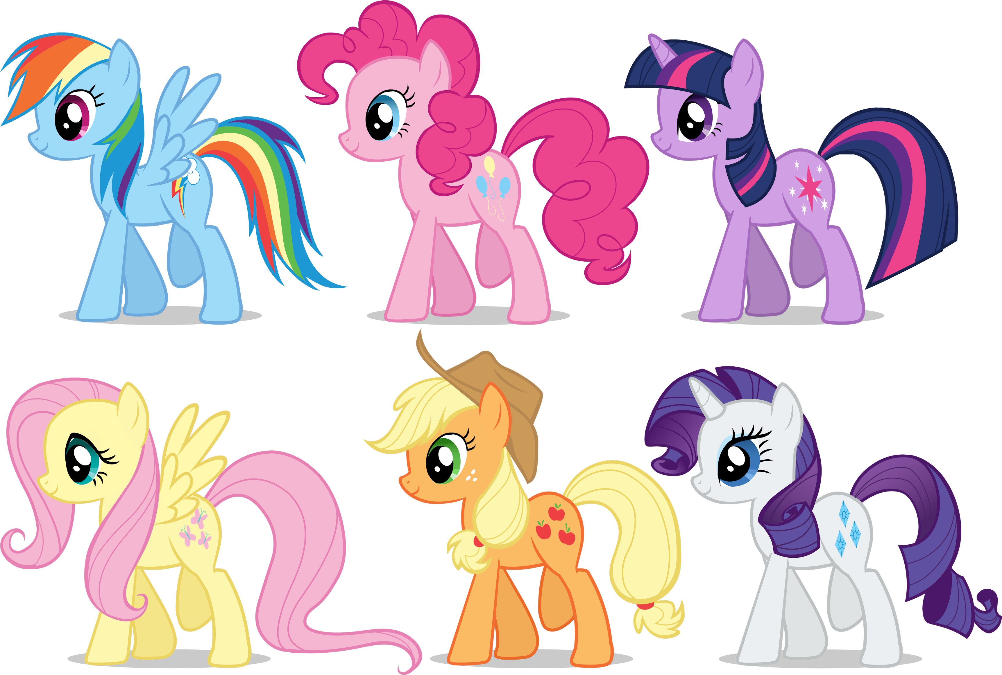 My Little Pony- Mane Six by DoctorTimmeh on DeviantArt